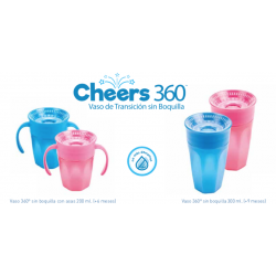 VASO 360º SIN BOQUILLA DR BROWN´S AZUL 200 ML