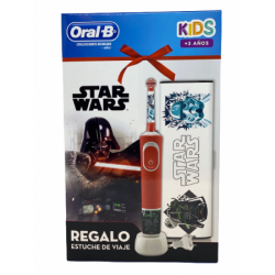 CEPILLO DENTAL ELECTRICO RECARGABLE INFANTIL ORAL-B KIDS STAR WARS CON ESTUCHE DE VIAJE