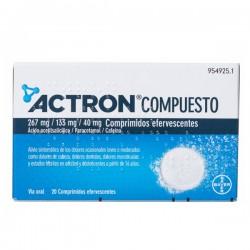 ACTRON COMPUESTO 267 MG/133 MG/40 MG 20 COMPRIMIDOS EFERVESCENTES